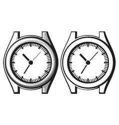 wrist watch - wristwatch vector image vector image