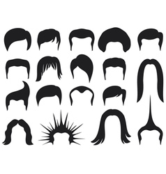 Hair style set for men - hair style collection vector
