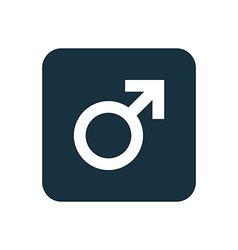 male symbol icon Rounded squares button vector image vector image