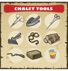 Wild West icons set tools vector image vector image