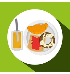 Breakfast design vector