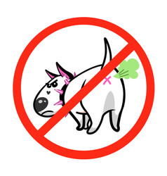 cute cartoon dog angry white bull terrier vector image vector image
