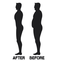 diet beauty before and after vector image