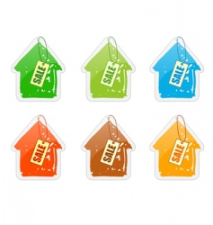 house with pricelist vector image vector image