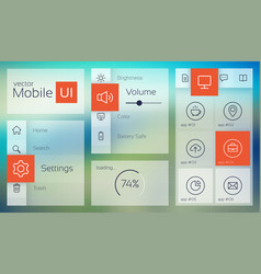 light mobile user interface vector image