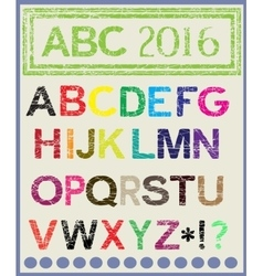The multi-colored alphabet which will lighten mood vector image vector image