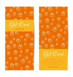 vertical gift cards Banners brochures set vector image vector image