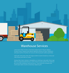 warehouse services poster design vector image vector image