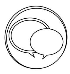 figure round chat bubbles emblem icon vector image vector image