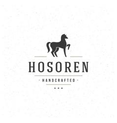 Horse stand logo template design element vector