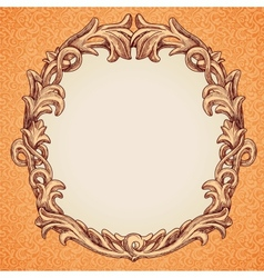 round frame in vintage style vector image