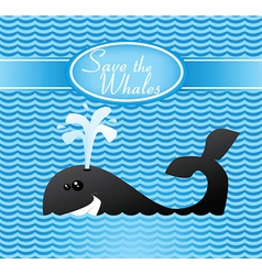 Save the whales vector image