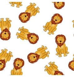 Seamless Funny Cartoon Lion vector image vector image