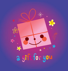 a gift for you vector image
