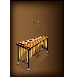 A Retro Vibraphone on Dark Brown Background vector image