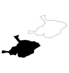 al jawf region map vector image