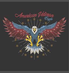 american veteran eagle vector image
