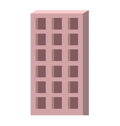 apartment building icon colorful silhouette vector image