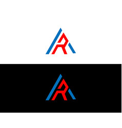 Ar and logo letter design template vector