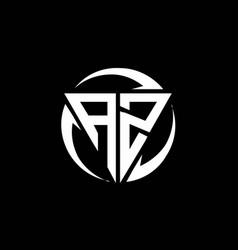 Az logo monogram design template vector