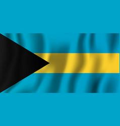 Bahamas realistic waving flag national country vector