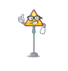 Businessman no cycling character shaped a mascot vector