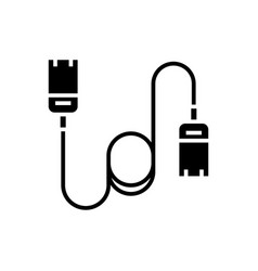 Cable computer - ethernet icon vector