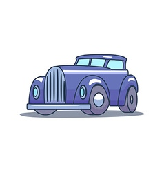 Cartoon Retro Car on white background vector
