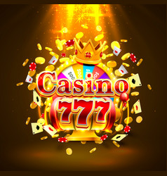 casino 777 big win slots and fortune king banner vector image