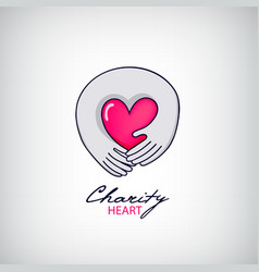 Charity support logo vector