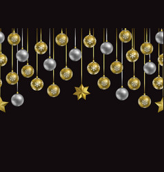 christmas and new year winter holiday seamless vector image
