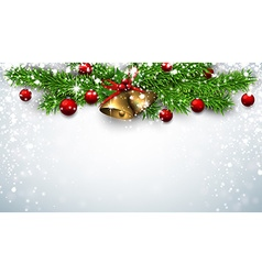 Christmas background with spruce twigs vector image