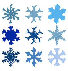 chunky marker snowflakes set-03 vector image