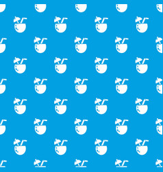 cocktail coconut pattern seamless blue vector image