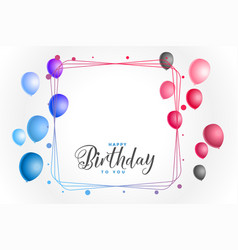 Colorful happy birthday background with text space vector