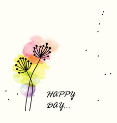 colorful watercolor flower for happy day vector image