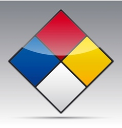 Colour Diamond Symbol vector image