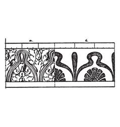 Corrupt leaf moulding place vintage engraving vector
