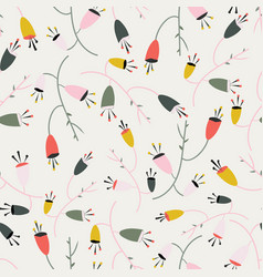 Creamy white with whimsical pink red yellow vector