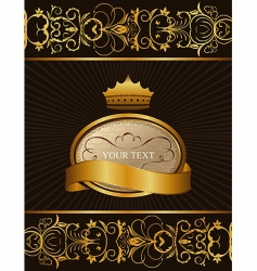 decorative background with crown vector image