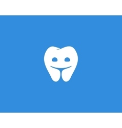 Dentist logo design template Happy tooth creative vector