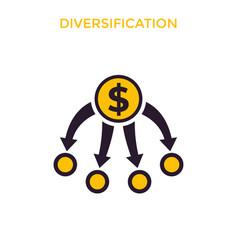 diversification diversified portfolio vector image