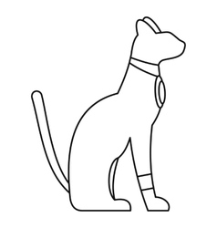 Egypt cat icon simple style vector image