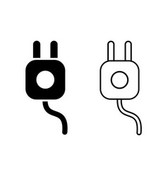 Electrical plug business concept power wire cable vector