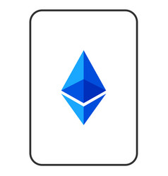 Ethereum lite playing card vector