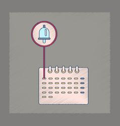 Flat shading style icon school calendar vector