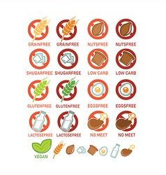 Food ingridients vector