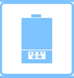 Gas boiler icon vector