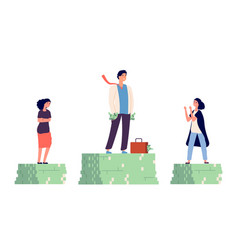 Gender wage gap unequal incomes concept male vector