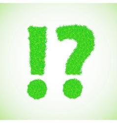 Grass question mark vector
